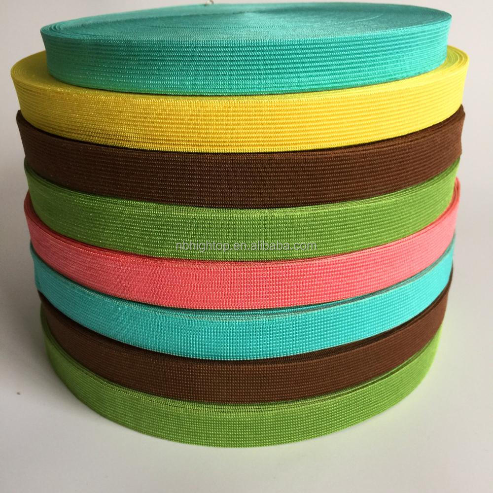 Factory directly woven elastic webbing band,knitted elastic band with high elasticity good quality product