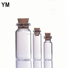 YM wholesale 5ml10ml 20ml samll mimi drift current floating glass tube bottle with cork stopper