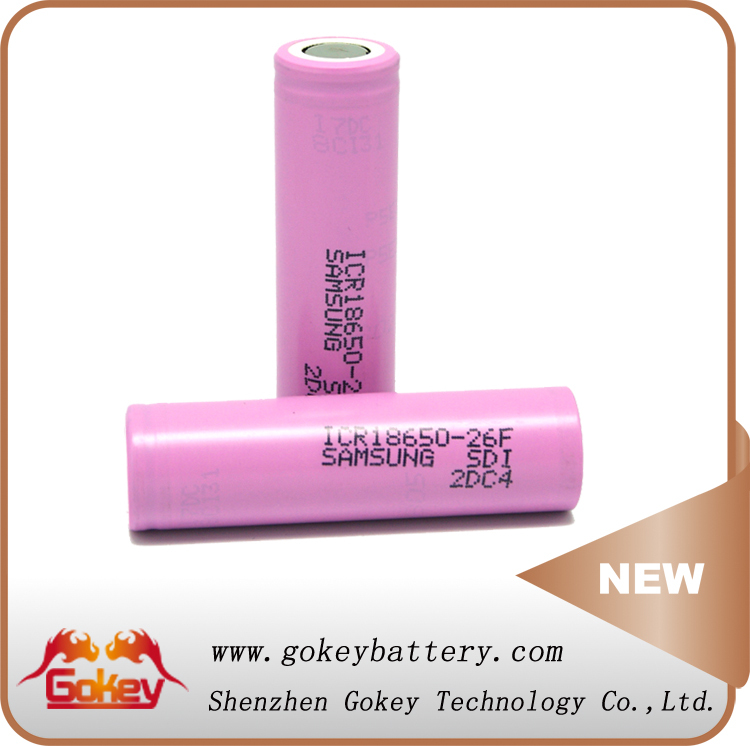 Click Surprise !!! Samsung 26F 3.7V 2600mAh 18650 Rechargeable Batteries ICR18650-26C Samsung