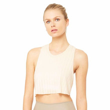 Wholesale 4-Way-Stretch Fabric Custom Cropped Silhouette Ladies Tops Latest Design with Slightly Dropped Armhole