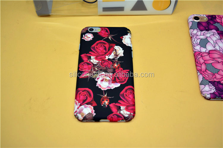 Factory Price Printing Beautiful Flower PC Phone Case For iphone