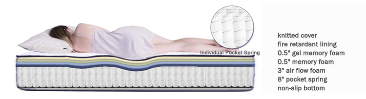 America cal king size gel memory foam spring mattress with 12 inch bamboo cover - Jozy Mattress | Jozy.net