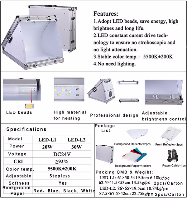 LED Studio Light Box