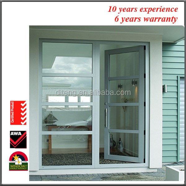 2017 American Panel Door Latest Interior Inward Opening Glazed China Manufacturers House Bathroom Aluminum Swing Door