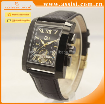 OEM China factory tourbilion mechanical Chinese movement automatic watch