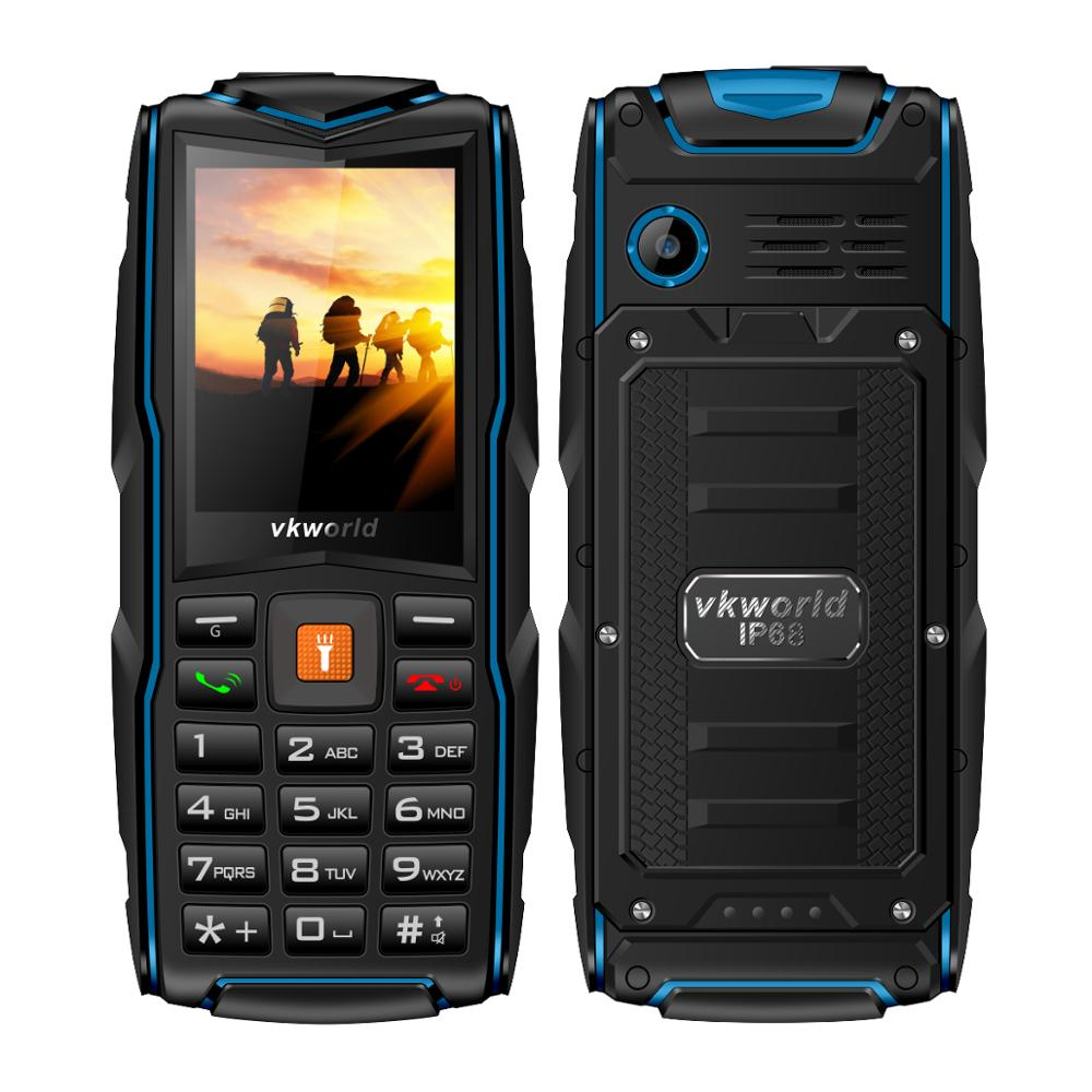 china brand name mobile phone Vkworld Stone V3 With 2.4inch 3SIM Cards 2MP 64MB+64MB Waterproof China Mobile Phone