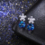 Dark Blue Austrian Crystal Earrings Eco-Friendly Wholesale Drop Stud Earring