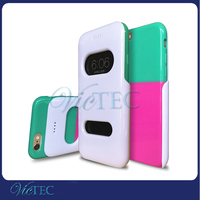 Double Color TPU+PC Slide View Flip Cover Cell Phone Case for iPhone 6 6S