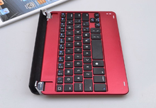 Aluminum Cover Bluetooth Keyboard With Magnetic Clips For Ipad Mini