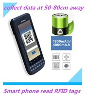 3.8inch smart phone Android barcode scanner PDA with NFC tag reader, Bluetooth, 3G
