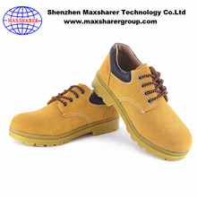 High quality custom made safety boots manufacturer leather steel cap safety shoes