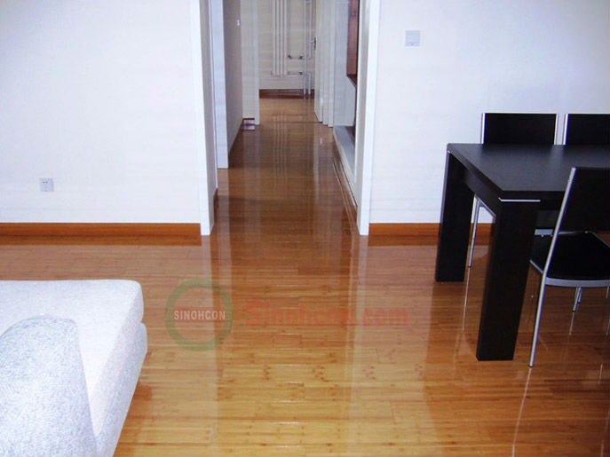 Enviromental E1 Grade A high gloss 12mm bamboo flooring