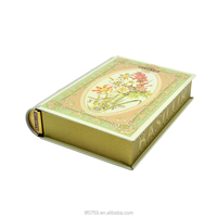 Vintage Book Shaped Tin Gift Box