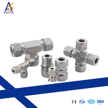 Silver oil technic hydraulic cross end pipe fitting