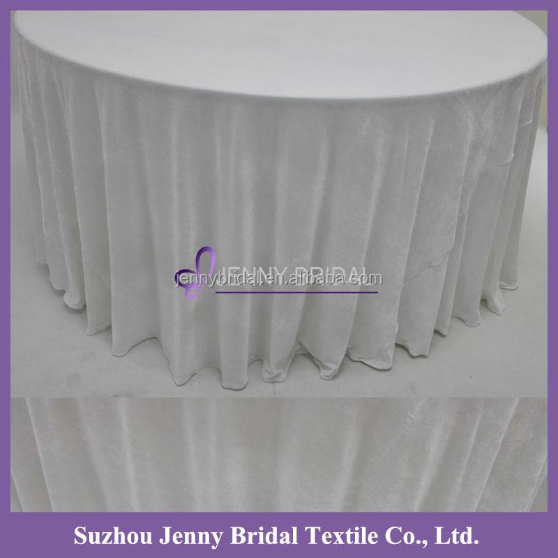 Tc039c Grey Velvet Fabric 120 Round Tablecloth View Round