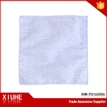 Handkerchief manufacturer wholesale plain mini polyester cotton hanky for boy