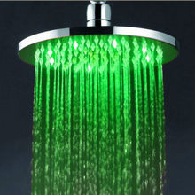 Fantastic showering feeling 8 inch round wall mounted brass chorme illuminated led overhead shower
