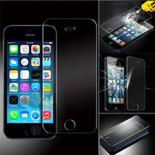 Top Quality For iphone 5 / 5S 9H 2.5D Anti-fingerprint Tempered Glass Screen Protector
