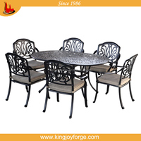 hotselling outdoor furniture Oval Cast Aluminium 6 Seater Patio Set