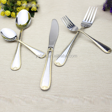 Royal Silver Stainless Steel Flatware Picnic Cutlery Set Promotional