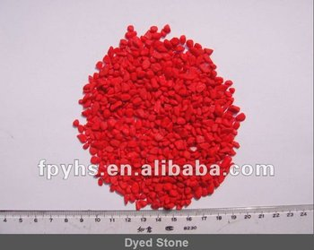 red aquarium stone