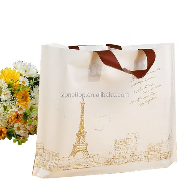 Biodegradable cheap price HDPE/LDPE soft flexl loop plastic cloth shopping handle bag wholesales