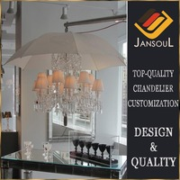 luxury lustre baccarat style crystal chandelier with umbrella