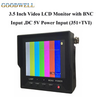 "Small Size Portable 3.5"" Video LCD Monitor Manufacturer for CCTV Camera with DC12V Power Output"