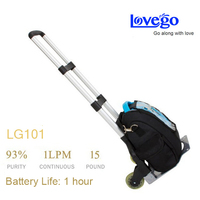 Lovego mini air purifier LG101 with trolley and carry bag back up