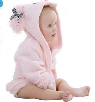 2017 hot sale high quality Baby's favorite animal image hooded towel