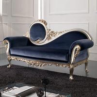 european style hand carved bedroom furniture luxury classic antique chaise lounge