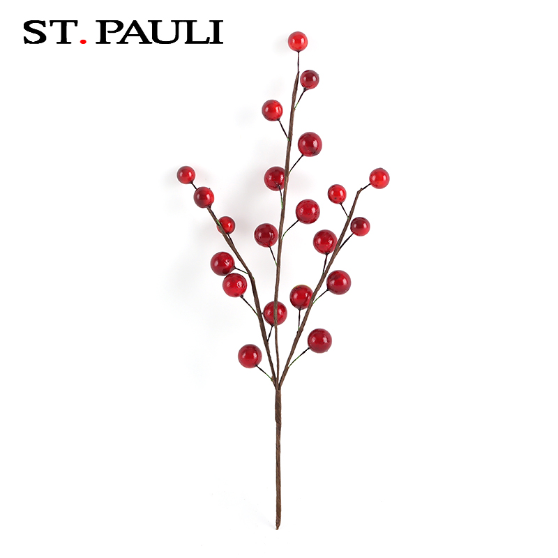 wholesale supplier christmas traditional home decorations artificial fruit branches from china