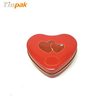 Custom design heart shaped small tin can for cookie