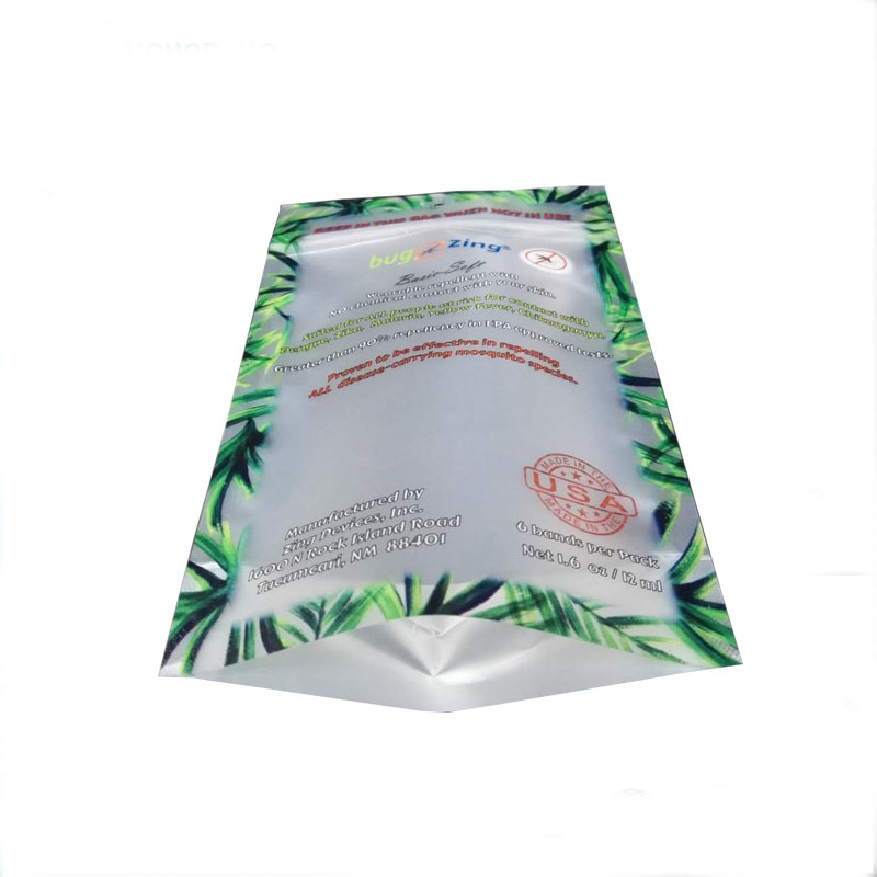 Food grade custom logo printing bag thermal laminating standup pouches plastic