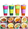 2 in 1 plastic Snack & Drink cup