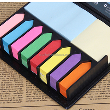 PU cover Memo pad \Colorful sticky note set box with custom logo\Hot Sales sticky note book