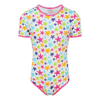 Woman Onesie Adult Baby Star Pattern ABDL Romper Snap Crotch Pajama Bodysuit