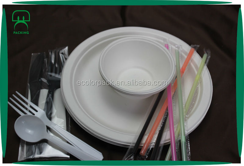Eco-Friendly Biodegradable Raw Materials Paper Plate