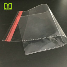 China Product 2018 Resealable Transparent Custom self adhesive stick plastic opp poly bag