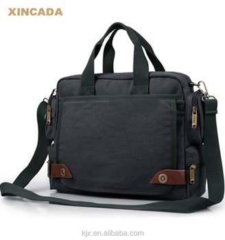 BA-1434 Canvas laptop briefcase bag ,whole sale canvas laptop bag / men canvas briefcase