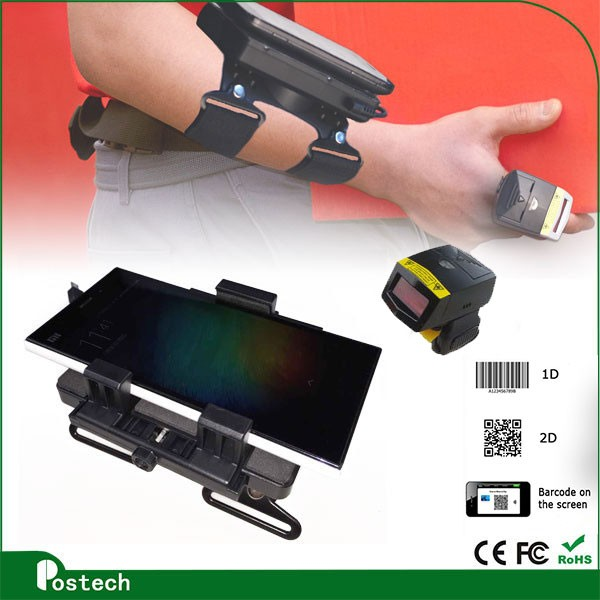 Wireless 2d barcode scanner fingerprint reader with high performance laser scan engine