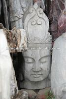 chinese antique buddha head sculpture