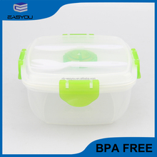 2016 new product personalized lunch box for adult with ice box;transparent salad lunch box;high quality plastic lunch box