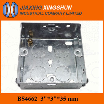 Hot Selling BS Standard Galvanized Steel Waterproof Electrical Outlet Box