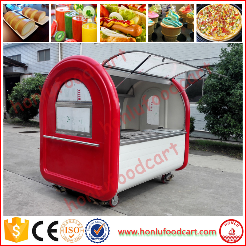 High quality snack vehicles mobile restaurant fast food vending cart for sale