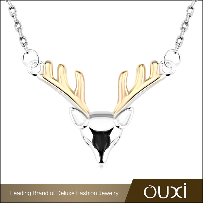 OUXI 2016 Fashion design wholesale price Dear horn Charming turkish silver jewelry Y10141