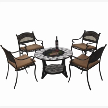 attractive and durable aluminum bbq set table and chairs
