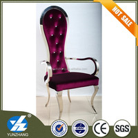 high back throne dining chair with armrest