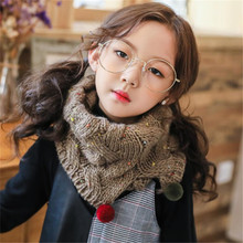 Wholesale Cusrom Beautiful Printed Children Winter Warm Woolen Shawls And Scarves