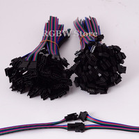 100 Sets 4Pin JST femal male RGB LED connectors For WS2801 LPD8806 RGB Strips